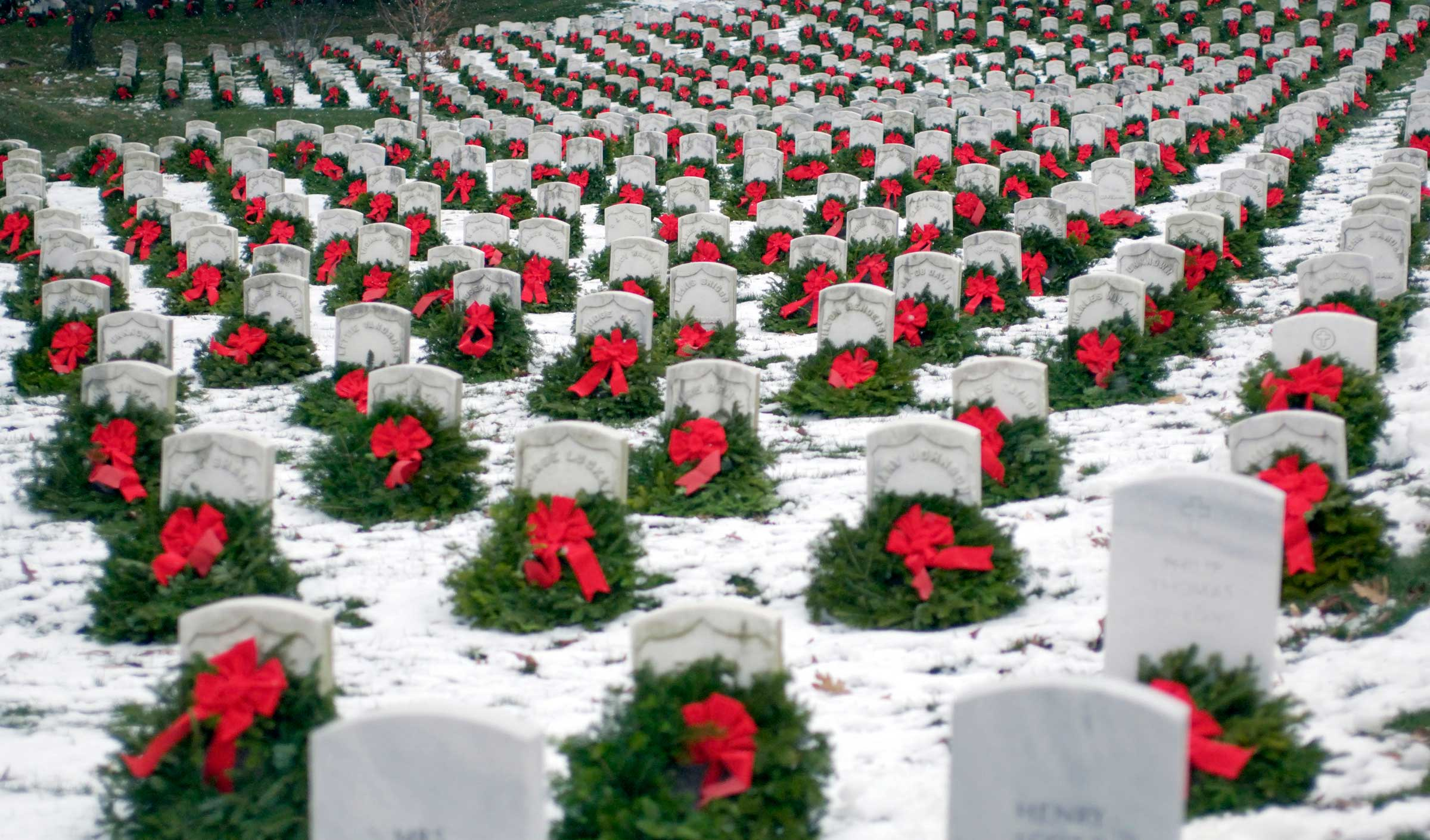 This iconic image became viral in 2005, inspiring increased national interest in the annual tribute and prompting the formation of Wreaths Across America as a non-profit 501-(c)(3)